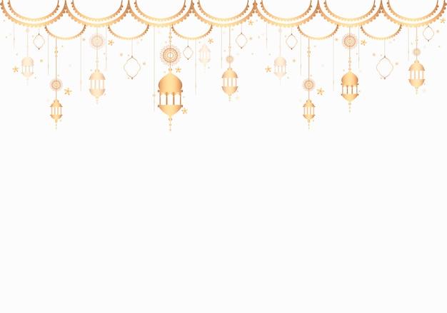 Le lanterne modellano uno sfondo bianco Vettore gratuito