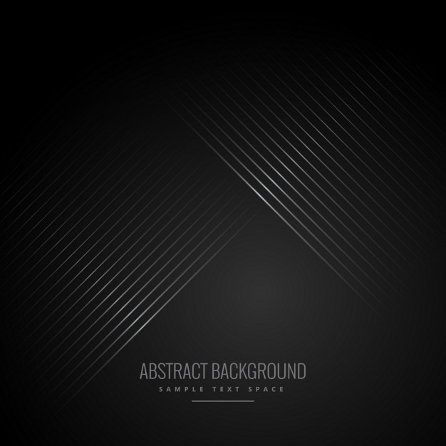 Le linee diagonali a sfondo nero Vettore gratuito