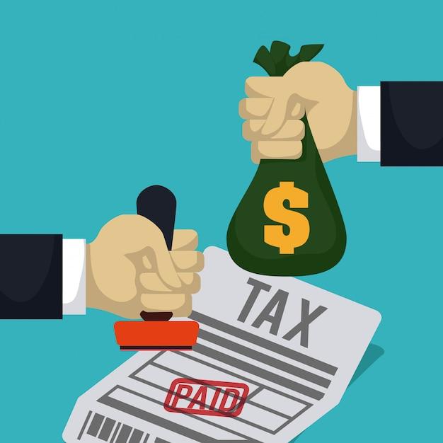 Le tasse progettano, vector l'illustrazione. Vettore Premium