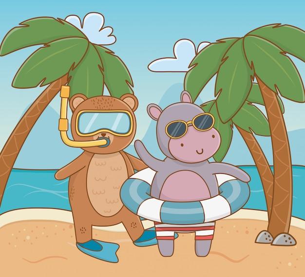 Le vacanze estive rilassano il fumetto Vettore gratuito