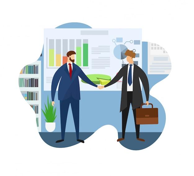 Leader del partner di benvenuto aziendale per la riunione Vettore Premium