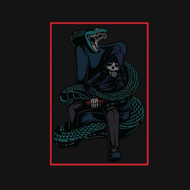 Leader delle specie di serpenti Vettore Premium