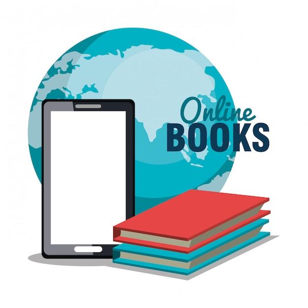 Leggi il design online di libri Vettore Premium