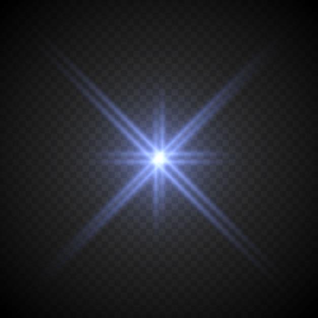 Lense flare light effect Vettore Premium