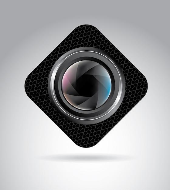 Lenti della macchina fotografica Vettore Premium