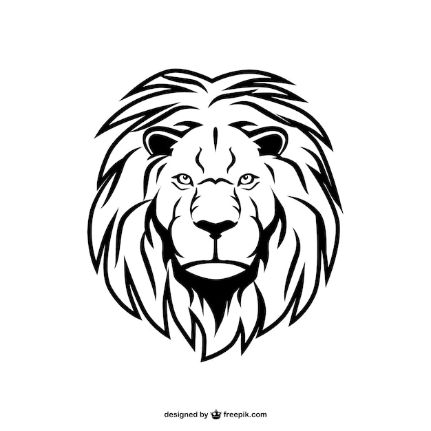 Leone animale arte vettoriale Vettore gratuito