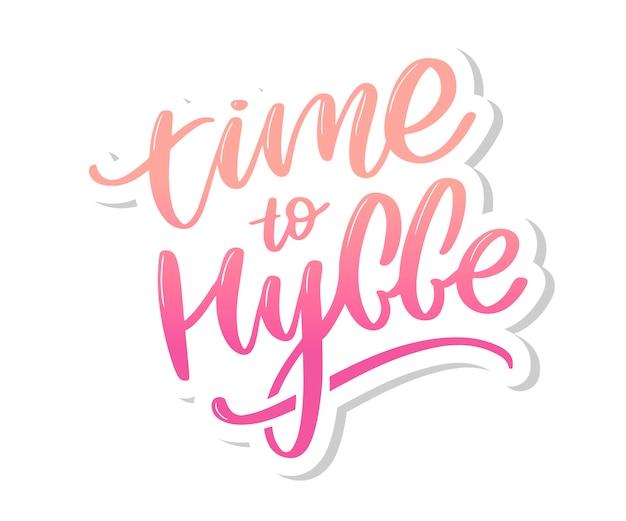 Let's hygge, citazione ispiratrice per social media e carte Vettore Premium