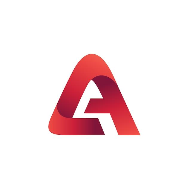 Lettera a logo design template Vettore Premium