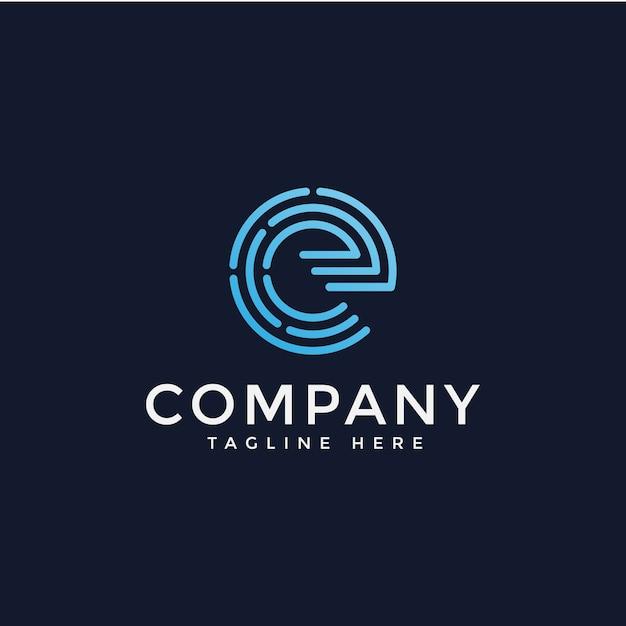 Lettera e logo vettoriale Vettore Premium