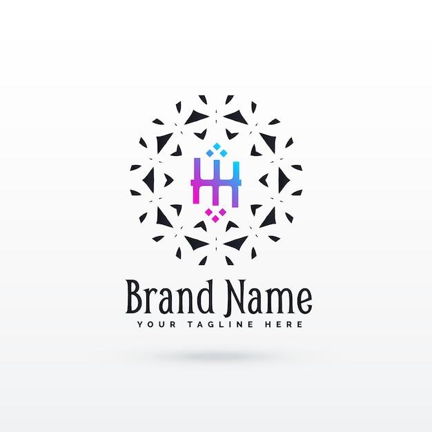 Lettera h modello di design concetto di logo Vettore gratuito