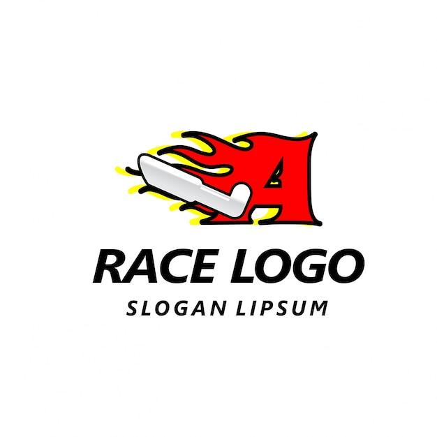 Lettera logo modello di progettazione veloce fuoco velocità vettore insolita lettera elementi del modello disegno vettoriale per l'applicazione o la società Vettore gratuito