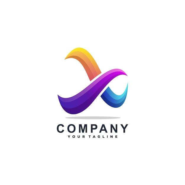 Lettera x logo design vettoriale Vettore Premium