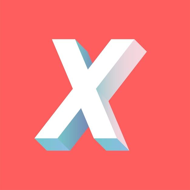 Lettera x. Vettore gratuito