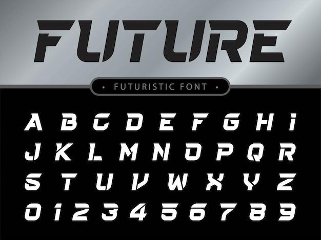 Lettere dell'alfabeto impostato per la tecnologia Vettore Premium