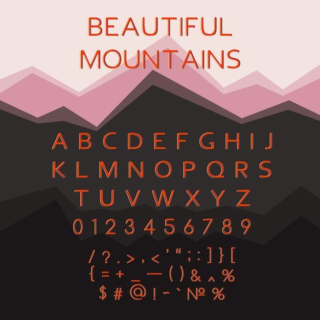 Lettere dell'alfabeto latino, carattere tipografico multicolore, carattere. Vettore gratuito