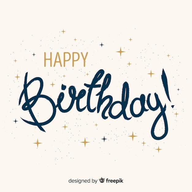 Lettering compleanno Vettore gratuito