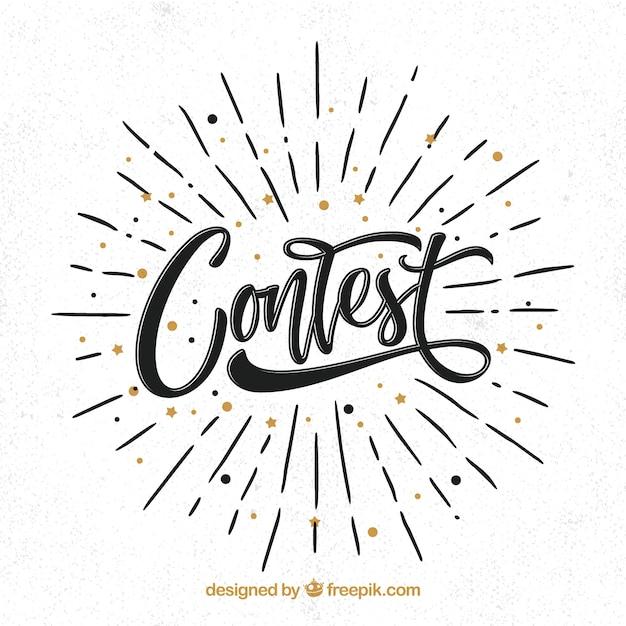 Lettering concorso moderno con design piatto Vettore gratuito