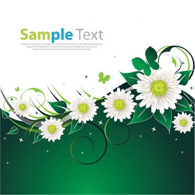 Libera della molla fiore sfondo verde Vettore gratuito