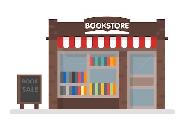 Libreria front illustration Vettore Premium