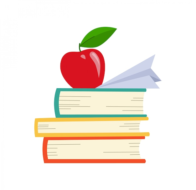 Libri in varie angolazioni. Vettore Premium