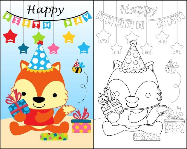 Libro Da Colorare Con Animali Divertenti Cartoni Animati In Festa Di