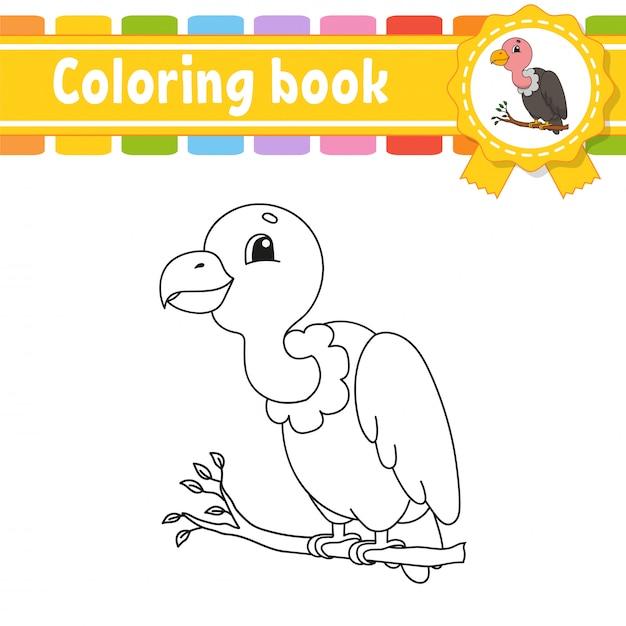 Libro da colorare per bambini. Vettore Premium
