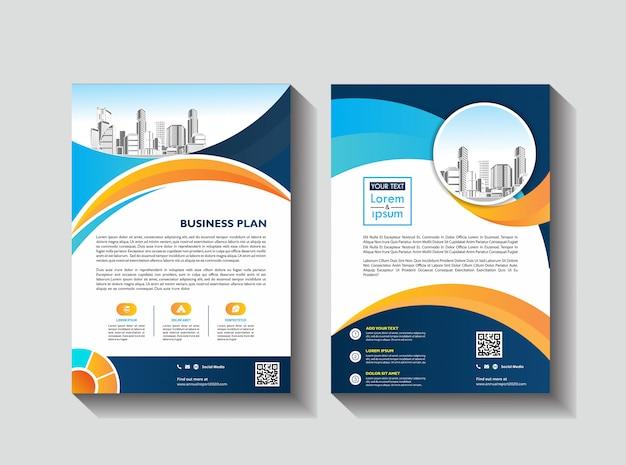 Libro & libretto del rapporto annuale del manifesto della rivista del profilo dell'azienda del modello delle alette di filatoio dell'opuscolo di affari Vettore Premium