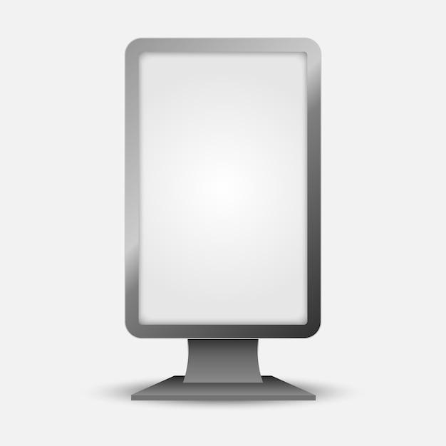 Lightbox verticale all'aperto Vettore Premium