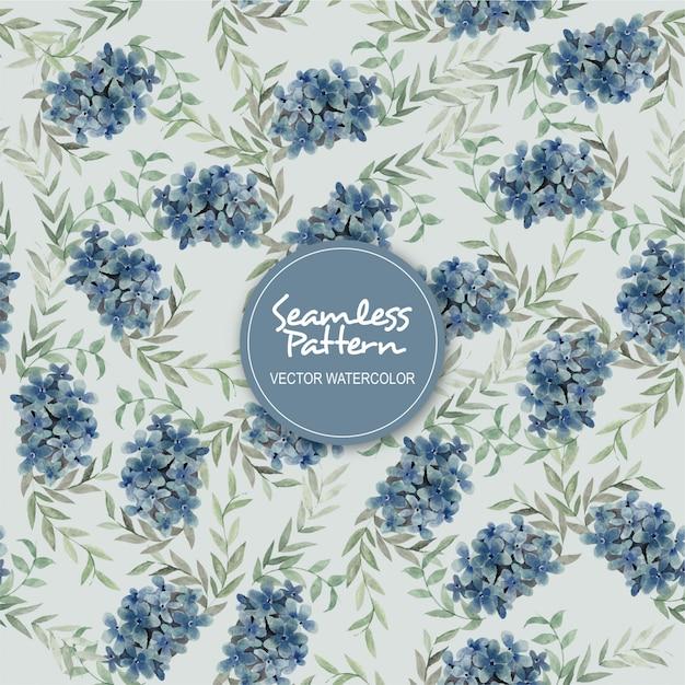 Lilian seamless patern watercolor vector Vettore Premium
