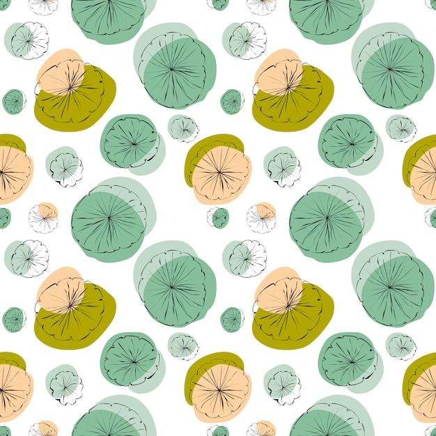 Lily seamless pattern Vettore Premium