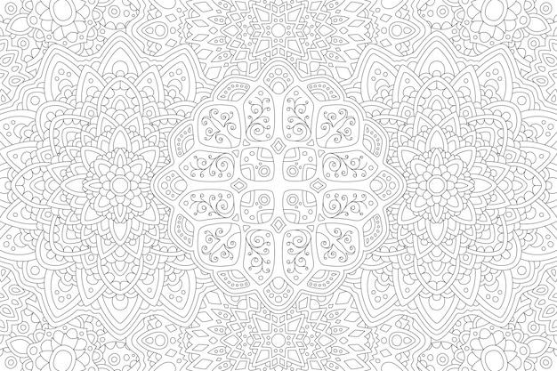 Line art in bianco e nero per libro da colorare Vettore Premium