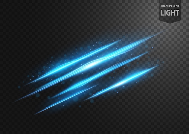Linea blu astratta di luce con scintille blu Vettore Premium