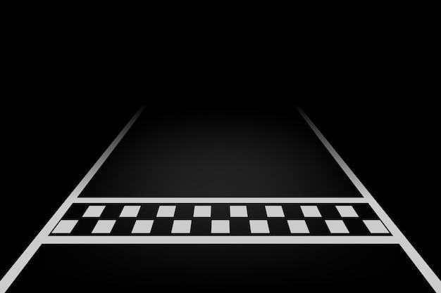 Linea corsa sfondo vettoriale Vettore Premium