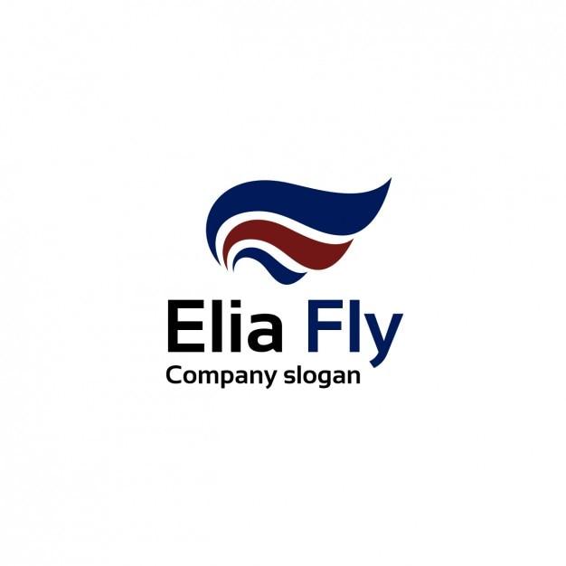Linee air company logo template Vettore gratuito