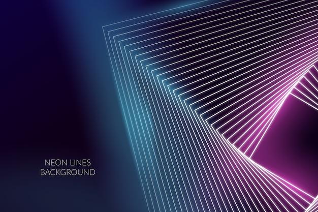 Linee al neon astratte del fondo Vettore gratuito