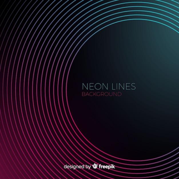 Linee astratte al neon Vettore gratuito