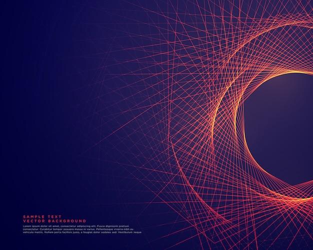 Linee astratte che formano lo sfondo di forma tunner Vettore gratuito