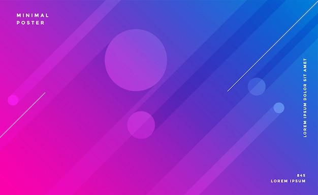 Linee astratte colorate sfondo design Vettore gratuito