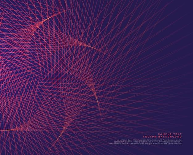 linee astratte disegno vettoriale di sfondo Vettore gratuito