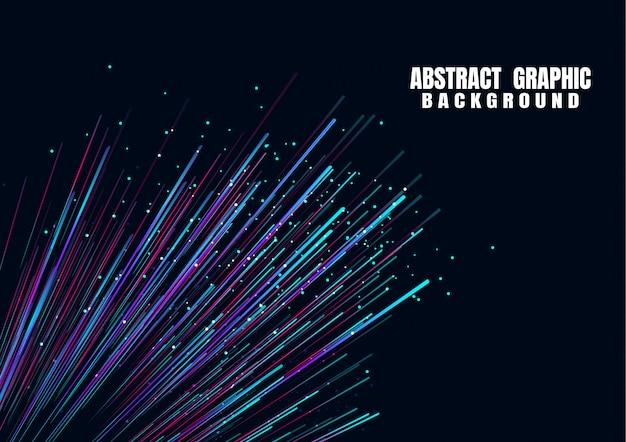Linee composte da sfondi luminosi, in fibra ottica Vettore Premium