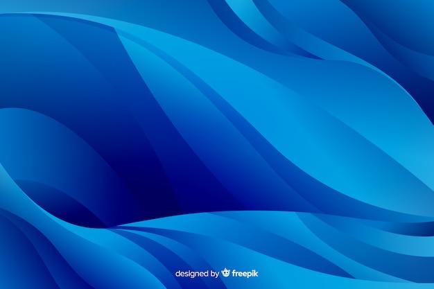 Linee curve blu chiaro e scure Vettore gratuito
