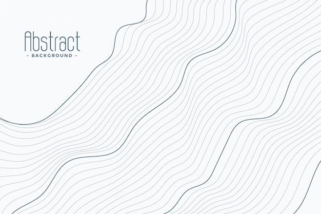 Linee di contorno astratte su fondo bianco Vettore gratuito