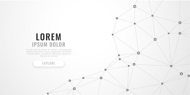 Linee di poli basso astratto mesh su sfondo bianco Vettore gratuito