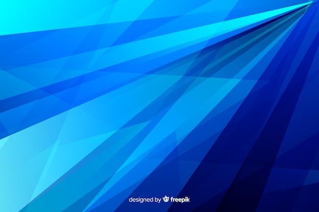 Linee diagonali astratte tonalità blu Vettore gratuito