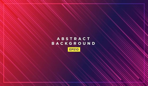 Linee diagonali che rientrano con ombra e illustrazione luce incandescente Vettore Premium