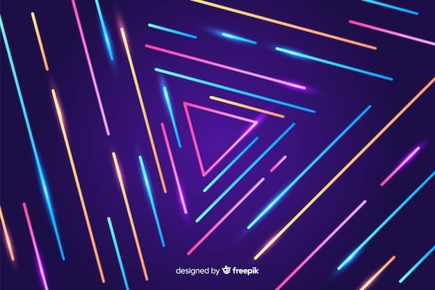 Linee geometriche colorate sfondo astratto Vettore gratuito