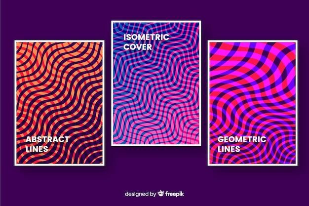 Linee geometriche coprono la collezione Vettore gratuito