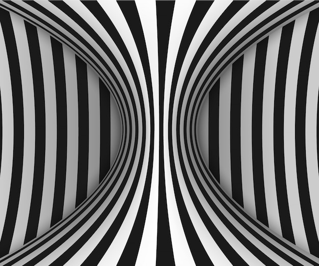Linee illusione ottica Vettore Premium
