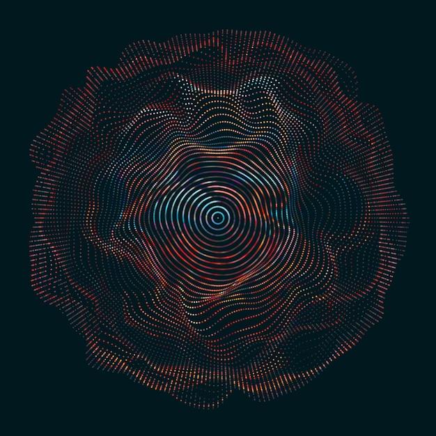 Linee ondulate che formano un cerchio Vettore gratuito