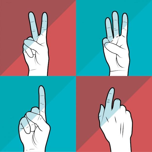 Linguaggio dei segni Vettore gratuito